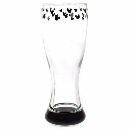 Disney Parks Mickey Icon Trim Cylinder Glass New