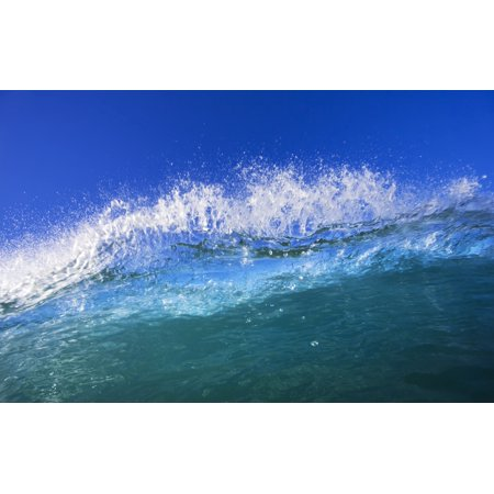 Blue Ocean Wave PosterPrint - Funny Halloween Pics And Quotes