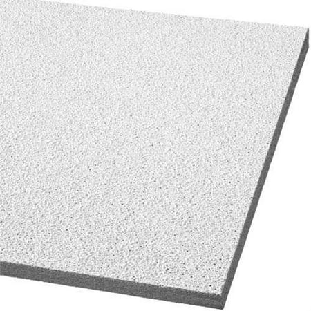 Armstrong Acoustical Ceiling Panel 764C Georgian Humiguard Plus Square Lay In, 24X24X5/8 In., 16 Per Case