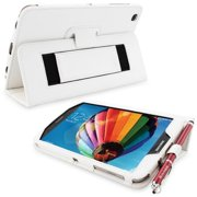 Snugg B00EQ3MTSI Galaxy Tab 3 8. 0 Case Cover and Flip Stand, White Leather