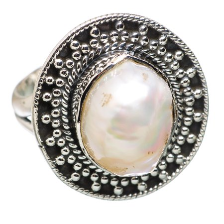 Ana Silver Co Mother Of Pearl 925 Sterling Silver Ring Size 6   Handmade Jewelry Ring836381