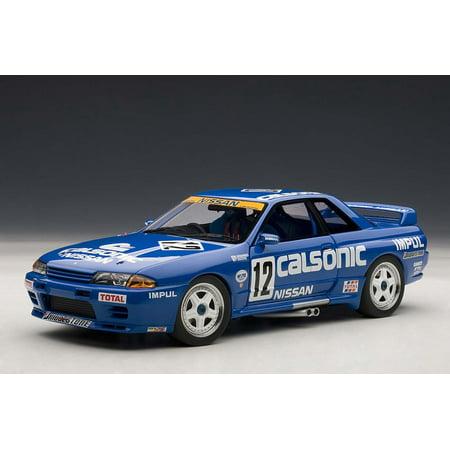 Nissan Skyline GT-R (R32) Group A 1990 Calsonic #12 1/18 Diecast Car Model by Autoart