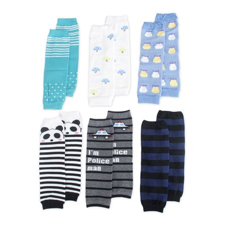 TopTie 6 Pairs Baby Leg Warmers for Toddler Boy, Cute Assorted - Leg Warmers For Babies Wholesale