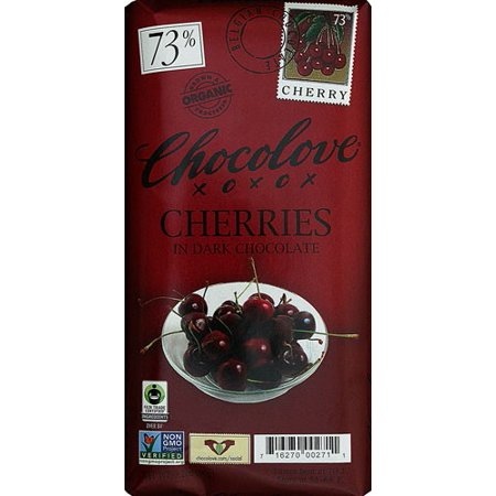 Chocolove Organic Dark Chocolate Bar Cherry 3.2 oz