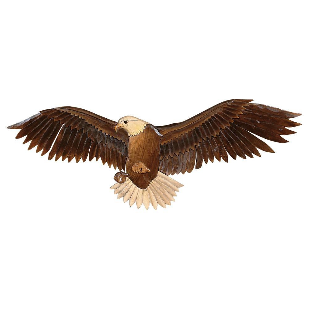 Flying eagle wood carving rustic wall art cabin decor walmart altavistaventures Gallery