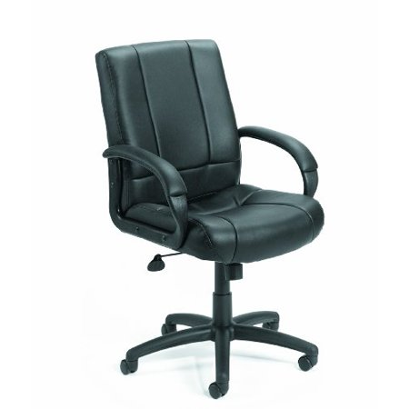 Black Caressoft Executive Chair (Boss Office Products B7906 Caressoft Executive Mid Back Chair in)