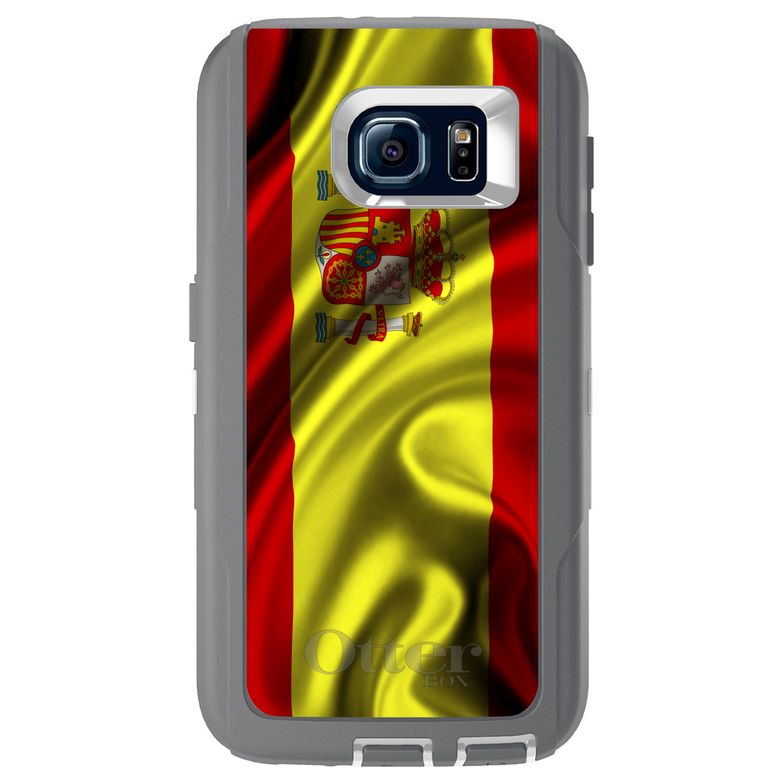DistinctInk Custom Grey OtterBox Defender Series Case for Samsung Galaxy S6...