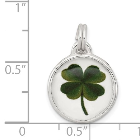 Sterling Silver Four Leaf Clover Charm QC4724 (22mm x 15mm) - image 1 of 2