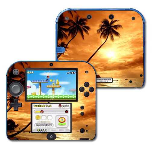 Mightyskins Protective Vinyl Skin Decal Cover for Nintendo 2DS wrap sticker skins Sunset