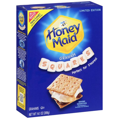Nabisco Honey Maid Grahams Squares, 14.1 OZ