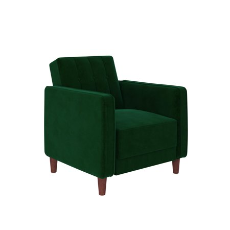 DHP Pin Tufted Accent Chair, Green Velvet