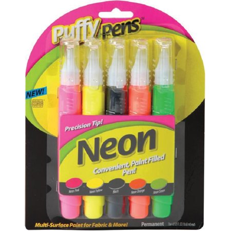 Puffy paint neon pen 5pk for Walmart arts and crafts paint