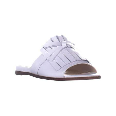 Marc Fisher Womens Whitley Leather Fringe Slide Sandals - image 2 of 2