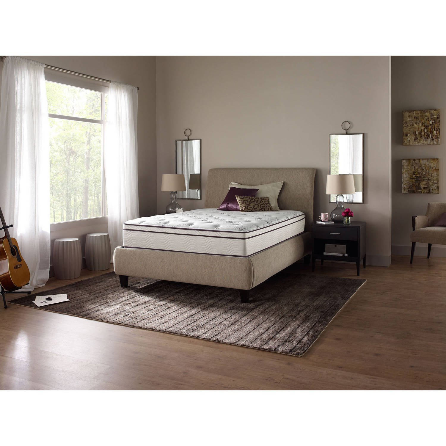 "beautyrest studio 12.5"" pocketed coil plush eurotop mattress with"