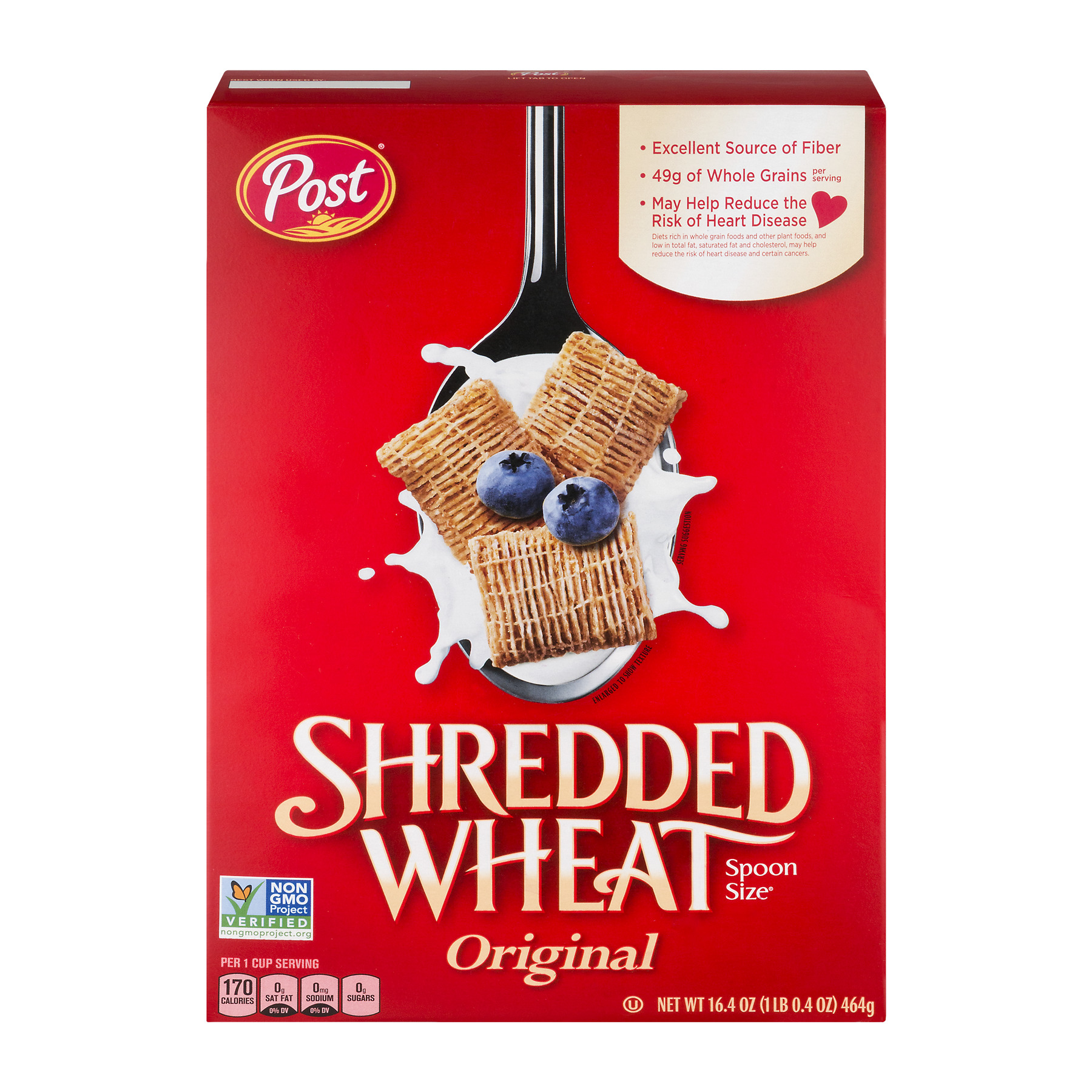 Post® Shredded Wheat Spoon Size® Original Cereal 16.4 oz. Box