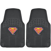 Original Superman Rubber Floor Mats for Car, 2-Piece Front Trimmable Heavy-Duty Protection