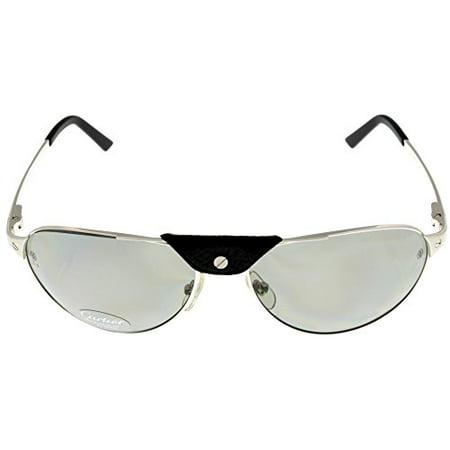 558528b9884f5 Cartier - Cartier Edition SANTOS-Dumont Sunglasses Aviator Silver Polarized  T8200802 Size  Lens  Bridge  Temple  61-16-135 - Walmart.com