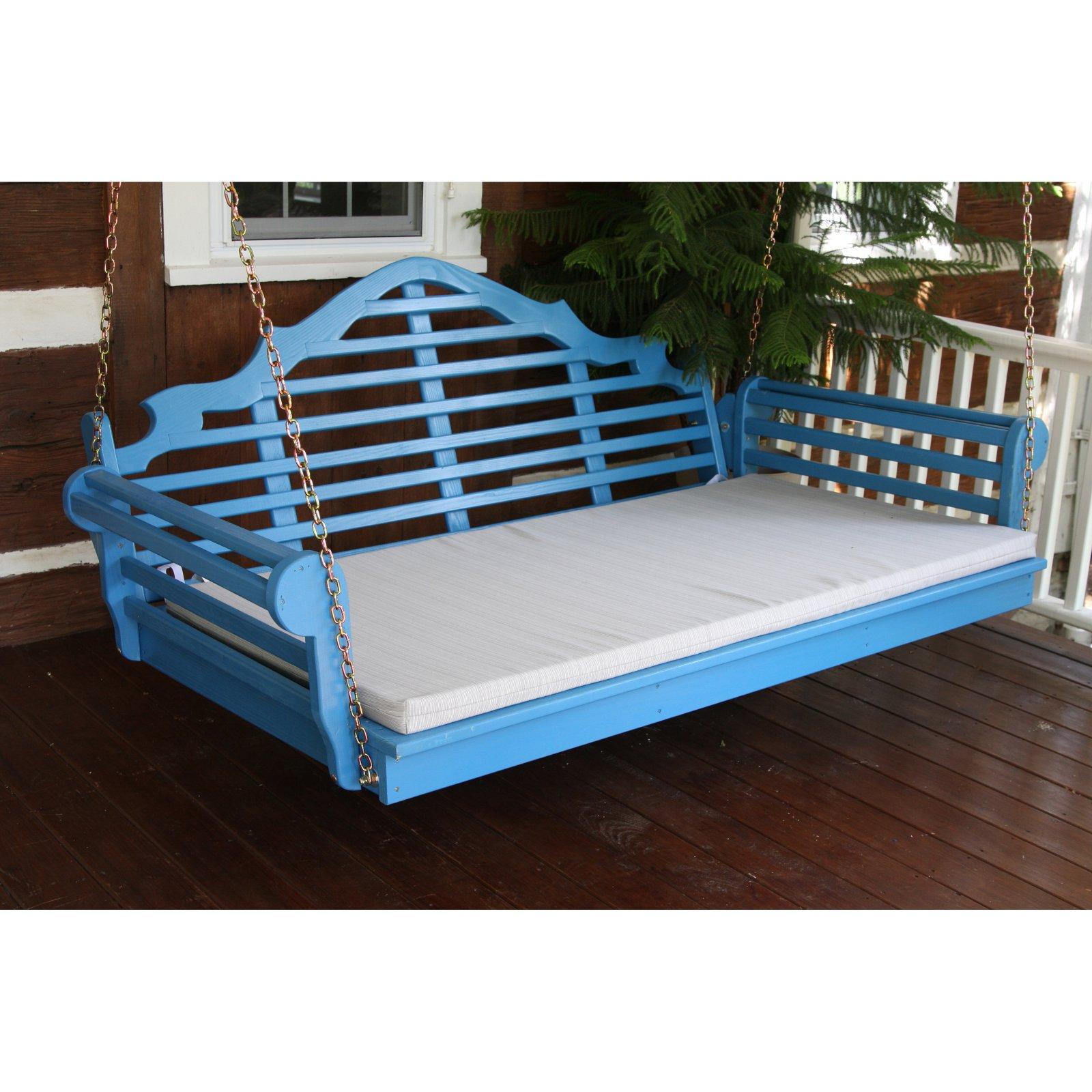 A & L Furniture Yellow Pine Marlboro Swing Bed