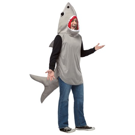 Sand Shark Adult Costume - Shark Eating Person Costume