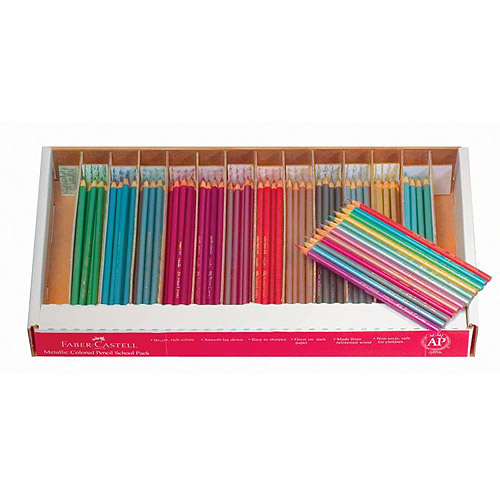 Faber Castell Metallic Colored EcoPencils, Assorted Colors, Pack of 240