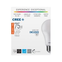 Cree 75W Equivalent Soft White (2700K) A19 Dimmable Exceptional Light Quality LED Light Bulb