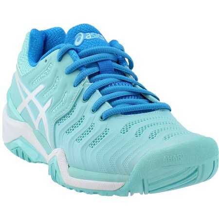 ASICS asics women's gel resolution 7 tennis shoe, aqua