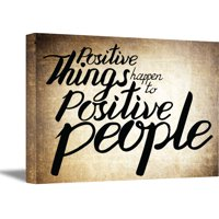 Awkward Styles Positive Things Happen To Positive People Digital Print Positive Quotes Wall Decor Positive Thinking Inspirational Wall Art Motivational Office Gifts Cute Home Decor Motivational Art
