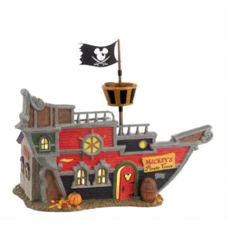Dept 56 Halloween Village Disney Mickey's Pirate Cove 4025336 Retired](Diy Halloween Village)