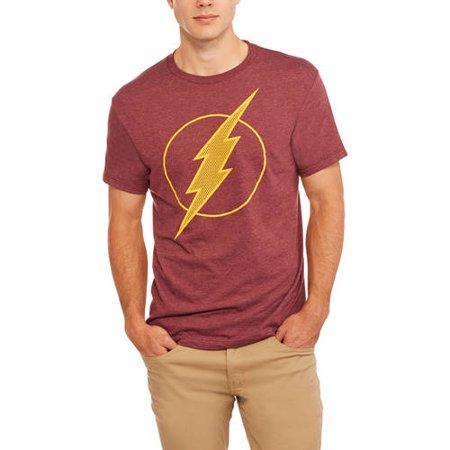 Dc Flash men's logo graphic t-shirt, up to size -