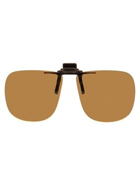 ae47f15e8521 Product Image Polarized Clip-on Flip-up Plastic Sunglasses - Square - 60mm  Wide X 54mm