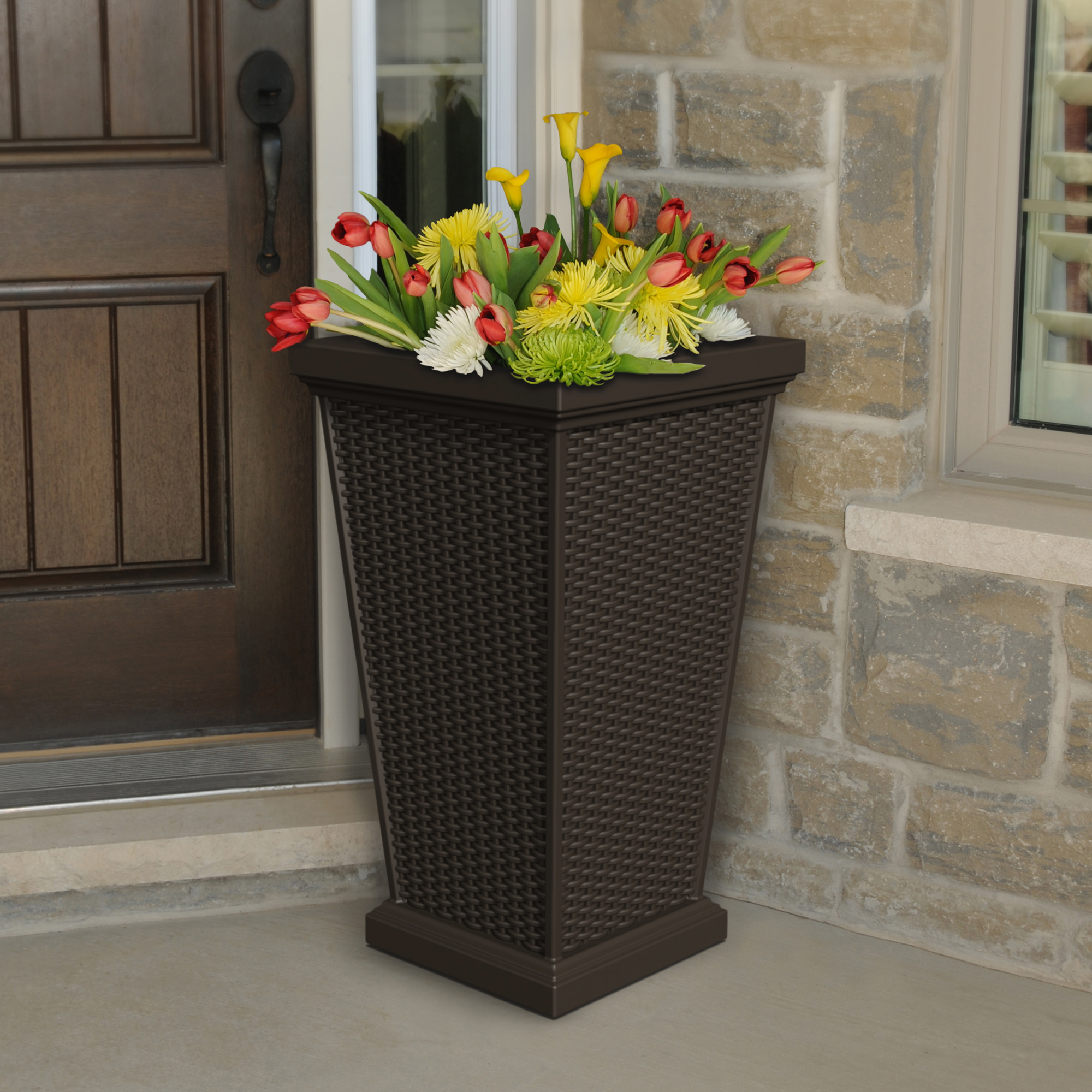 Wellington Tall Planter Espresso by Planters