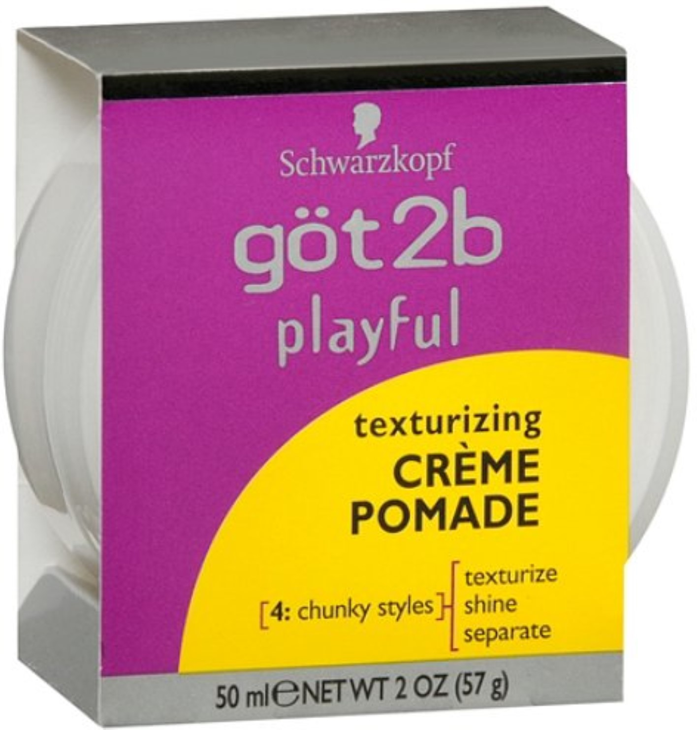 got2b Playful Texturizing Creme Pomade 2 oz (Pack of 2)