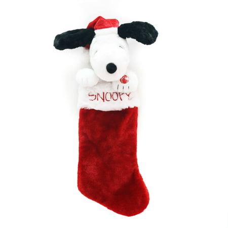holiday time christmas decor snoopy 19 singing and animated stocking - Snoopy Christmas Stocking