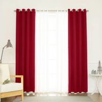 Best Home Fashion Coco Sheer And Solid Blackout Mix &Amp; Match Curtain Set - Set Of 4