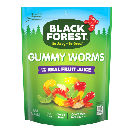 Black Forest Gummy Worms Candy, 28.8 Ounce Bag (Halloween Treats Gummy Worms)