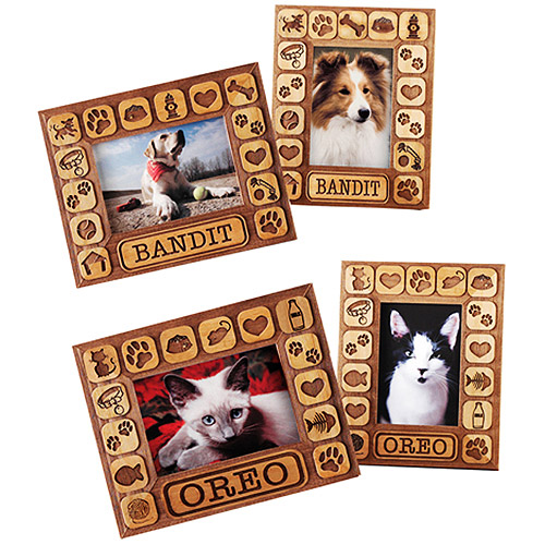 Personalized Pet Burnout Frame-3 1/2x5-Select Cat or Dog-Horizontal or Vertical