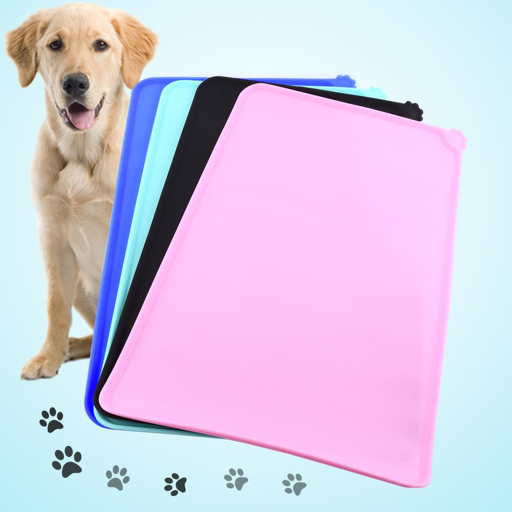 VBESTLIFE Pet Water Mat,4Colors Cat Feeding Mat Silicone Dish Bowl Feed Food Water Placemat Dog Puppy Pet Product Pet Place Mat