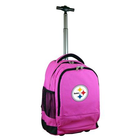 Pittsburgh Steelers 19 Premium Wheeled Backpack - Pink
