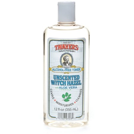 Thayers Alcohol Free Witch Hazel With Organic Aloe Vera Formula Toner  Unscented 12 Oz  Pack Of 2