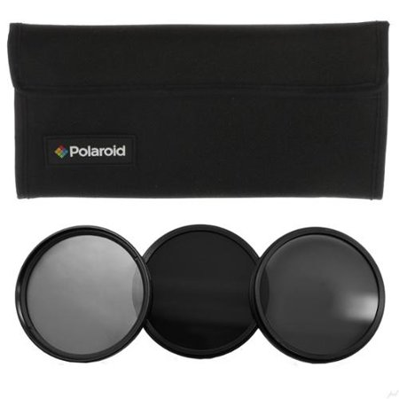 Polaroid Optics- 67mm Neutral Density Filter kit w/ [ND3, ND6 & ND9] Filters for Light, Exposure & Shutter Control Includes Nylon carry Case- Compatible w/ALL Popular Camera Lens