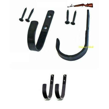 Gun Hanger Rack Shotgun Rifle Archery Bow Wall Mount Storage Hooks, GNH02 (4-PAIRS)