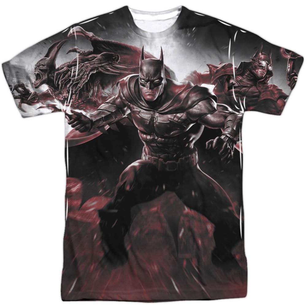 Infinite Crisis Men's  Ic Batman Sublimation T-shirt White