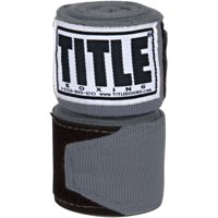 "Title Boxing 180"" Semi Elastic Mexican Handwraps - Gray"