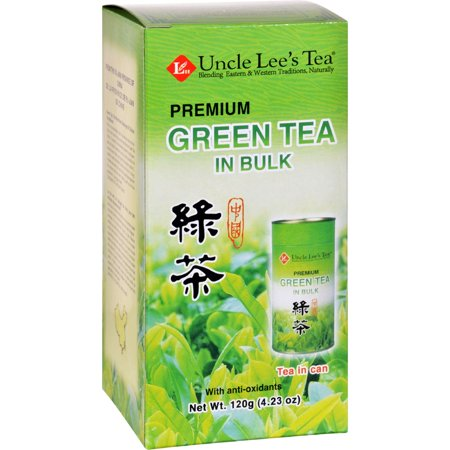 Uncle Lees Tea - Green - Premium - In Bulk - Loose - 4.23 oz - Case of