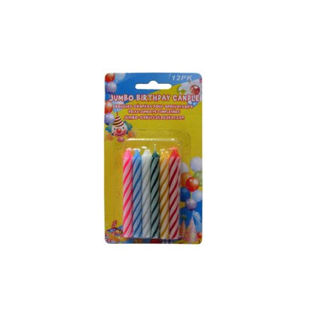 Jumbo Birthday Candles Pack Of 12 Count