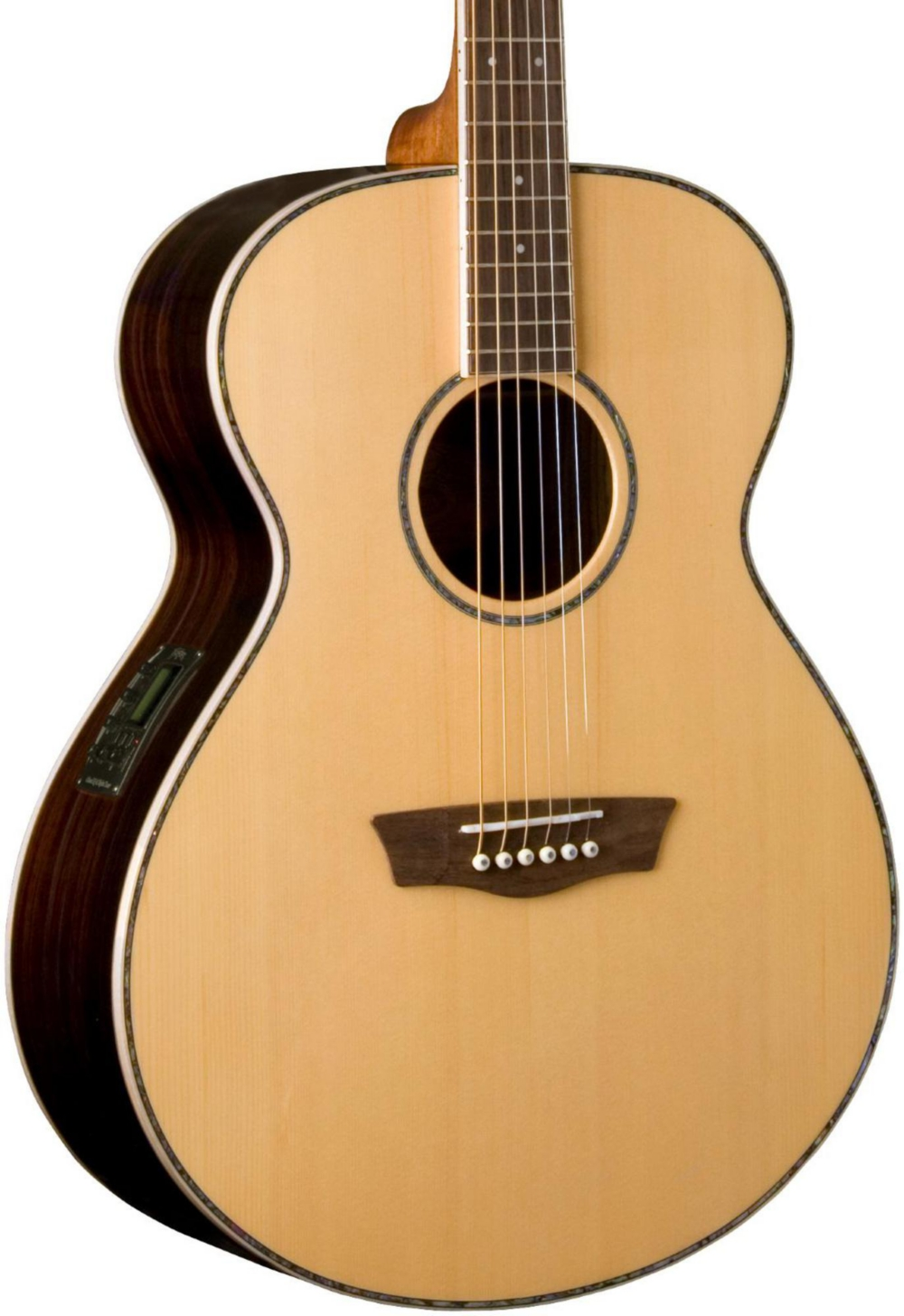 Washburn WG27SE Grand Auditorium Acoustic-Electric Guitar Natural ...