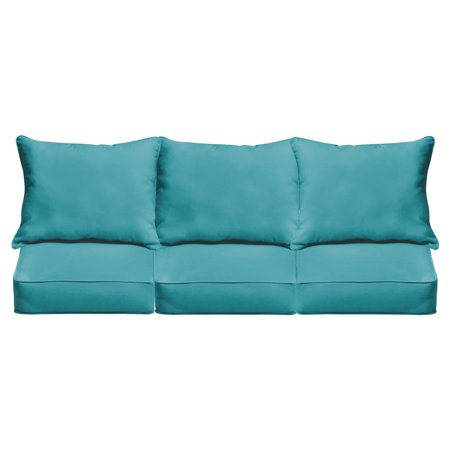 Mozaic Company Sunbrella Outdoor 6 Piece Pillow and Cushion Sofa Set ()