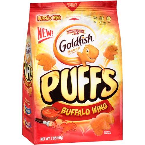 Goldfish Puffs Buffalo Wing Baked Puff Snacks, 7 oz