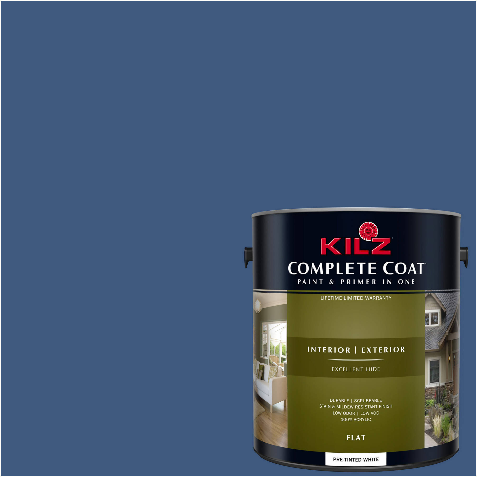 KILZ COMPLETE COAT Interior/Exterior Paint & Primer in One #RC100-01 Thunder Night