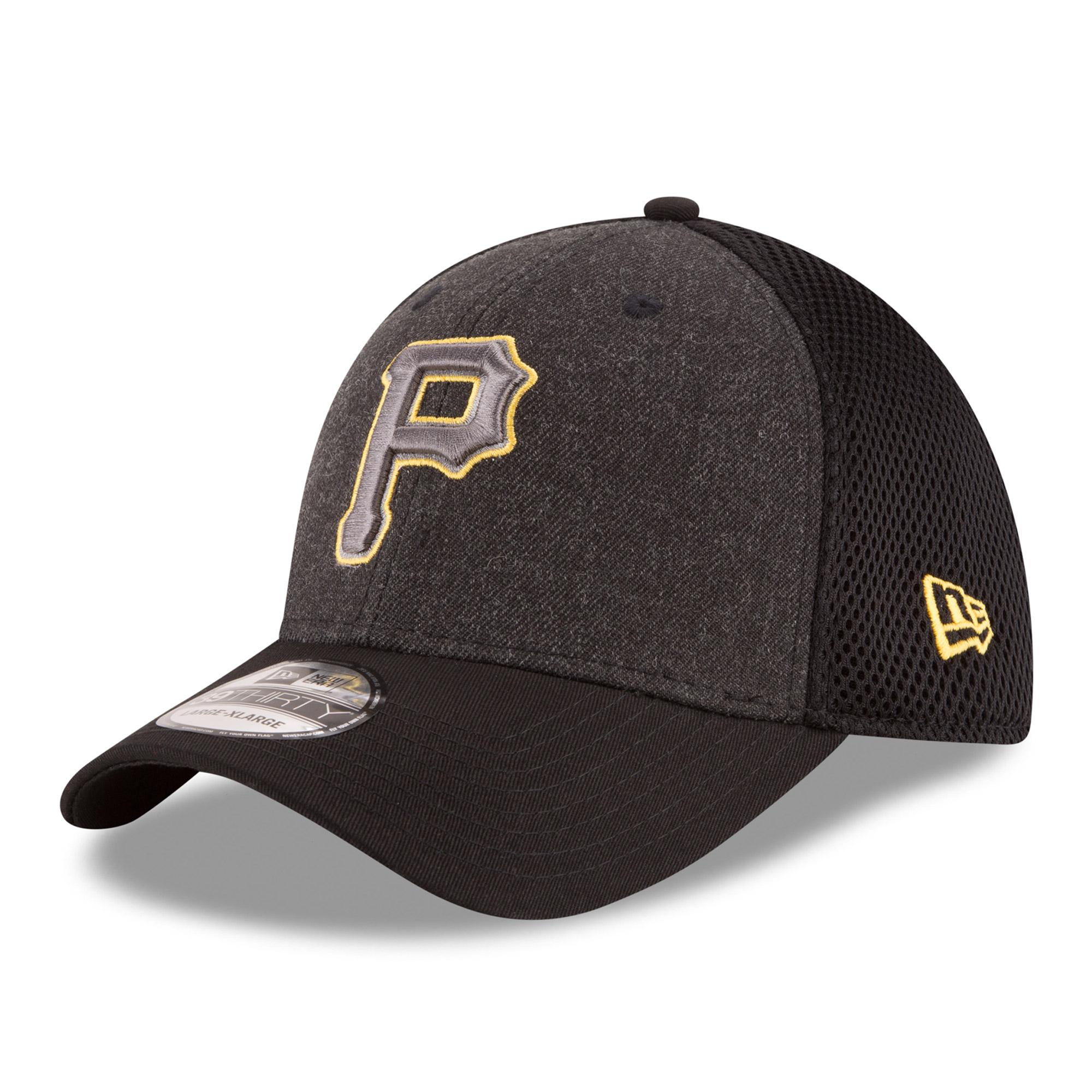 Pittsburgh Pirates New Era Neo 39THIRTY Flex Hat - Heathered Gray/Black